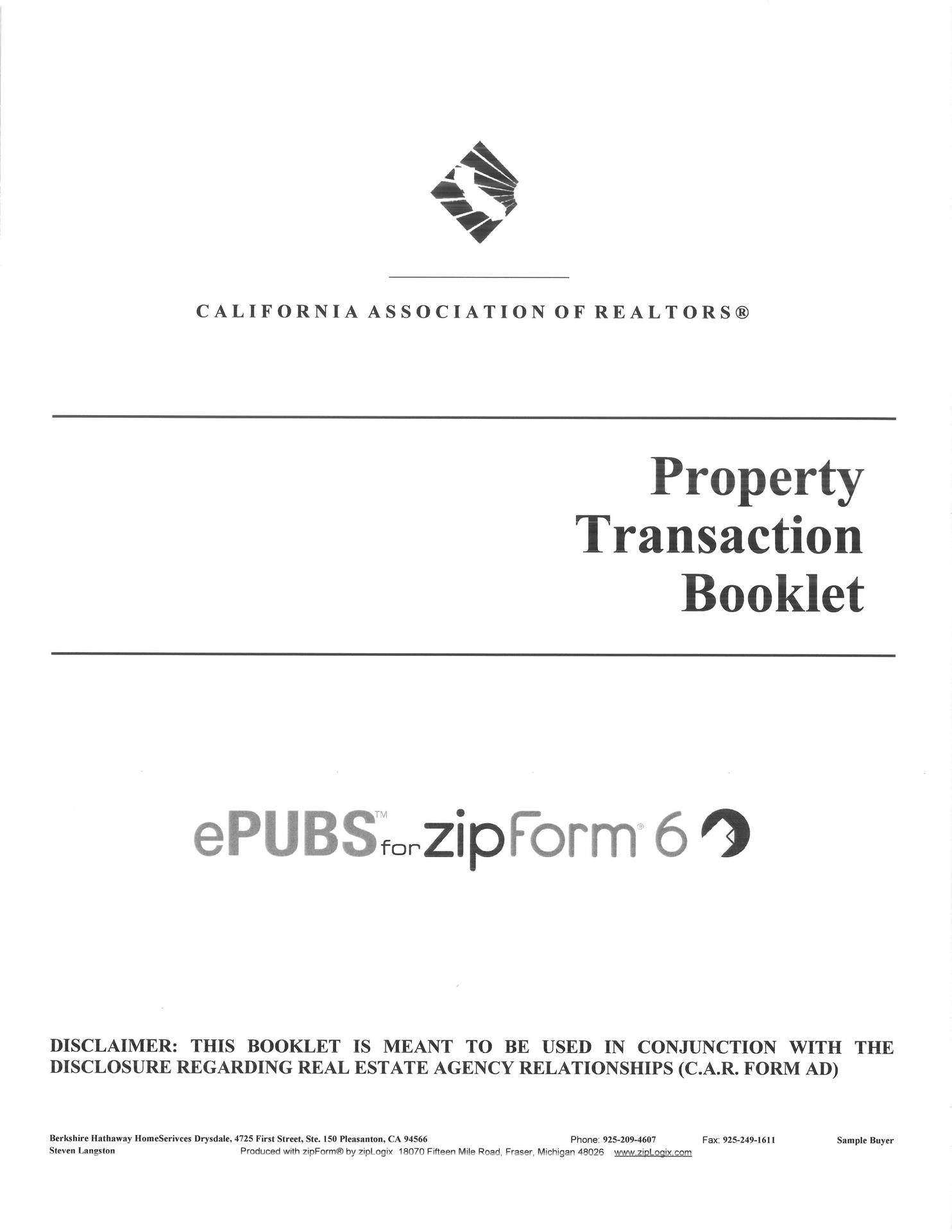 Guide to Property Transaction Booklet