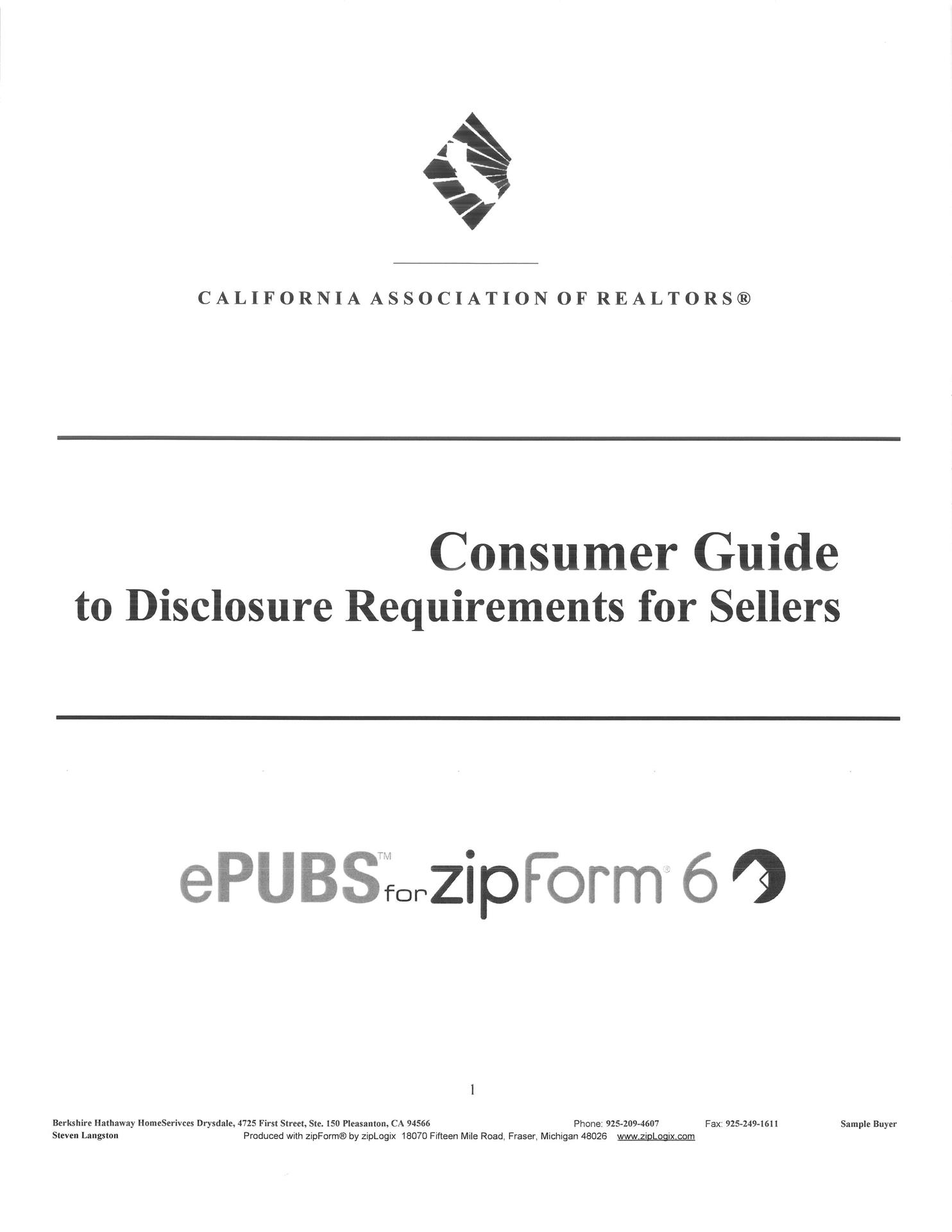 Guide to Disclosures for Sellers