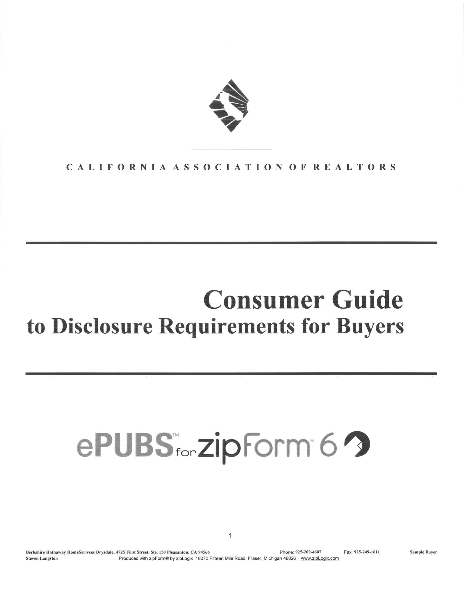 Guide to Disclosures for Buyers